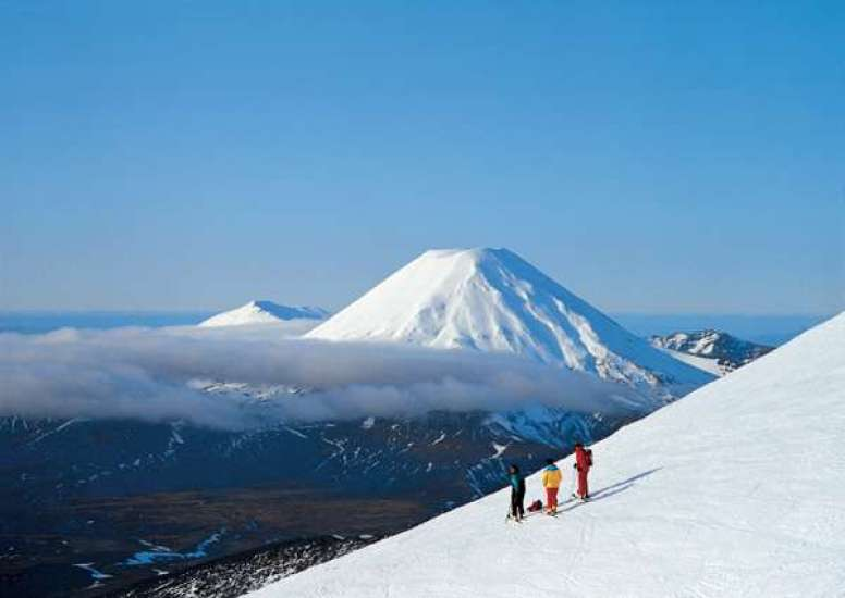 Skiers on Mt Ruapehu. Photo courtesy of Tourism New Zealand 1 0